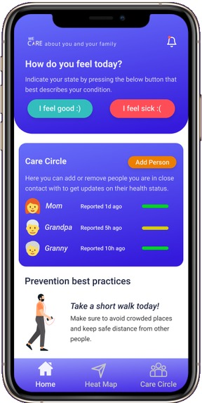 WeCare – screenshot 2