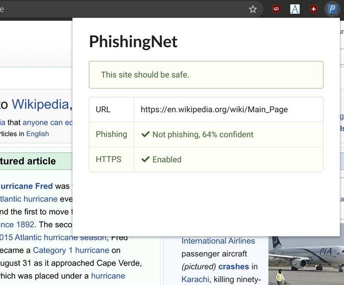 PhishingNet – screenshot 2