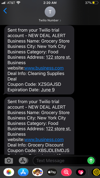 ShopAssist - Text Subscription Deals for COVID-19 recovery – screenshot 5