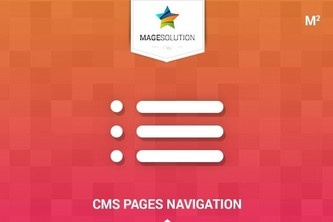 Magento 2 CMS Pages Navigation