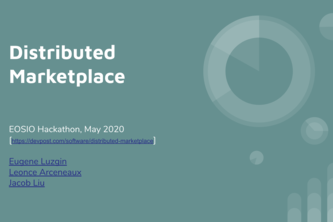 Distributed Marketplace