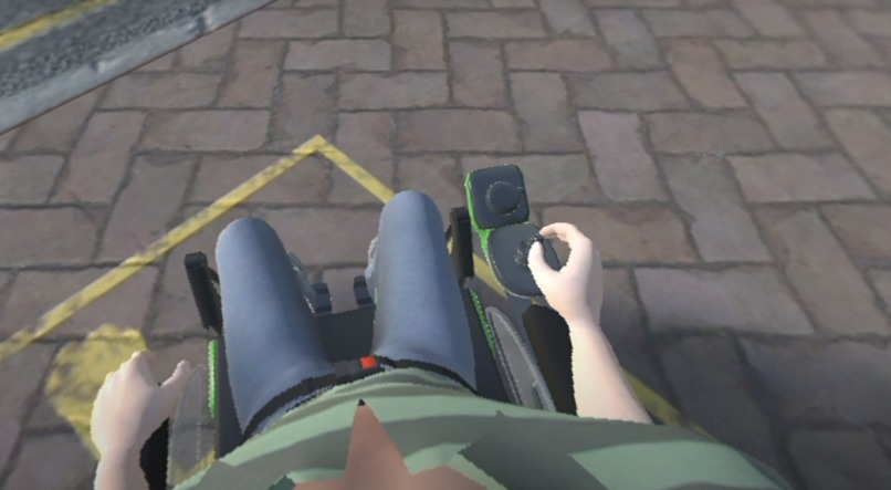 VR Therapy / Training  for Wheelchair Control  – screenshot 2