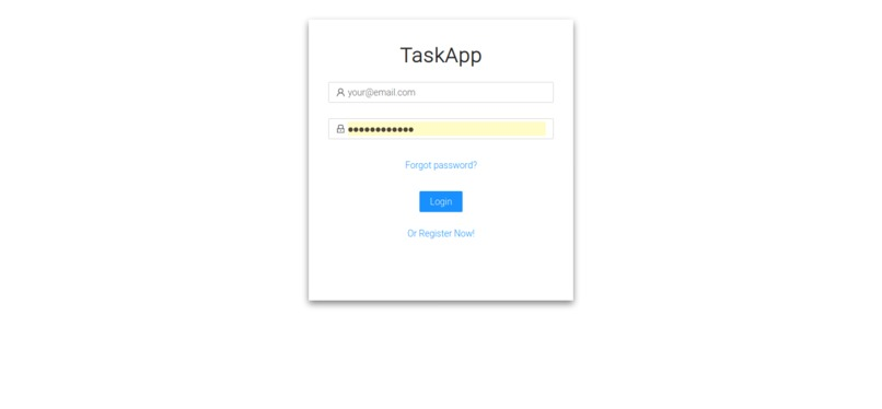 TaskApp – screenshot 1