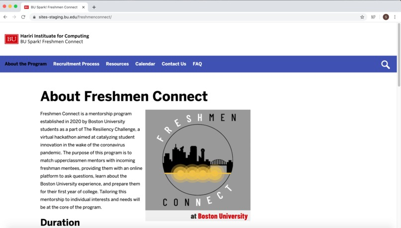 Freshmen Connect – screenshot 1
