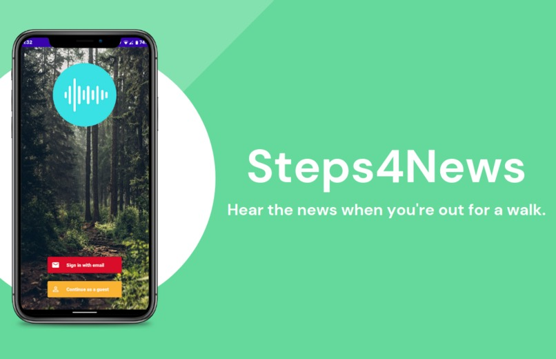 Steps4News – screenshot 1