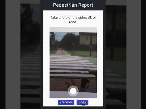 Pedestrian Report App – screenshot 1