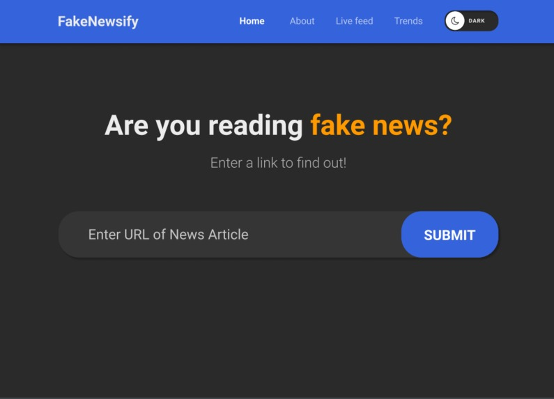 FakeNewsify – screenshot 2