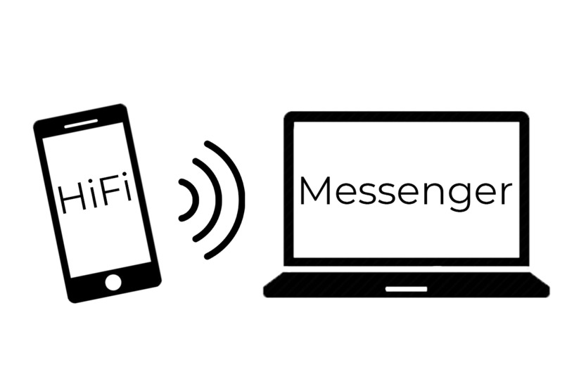 HiFi Messenger – screenshot 1