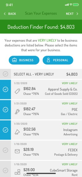 Hurdlr's Automatic Business Expense & Deduction Finder – screenshot 3