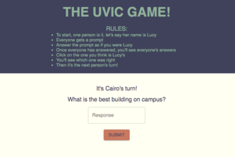 The Uvic Question Game