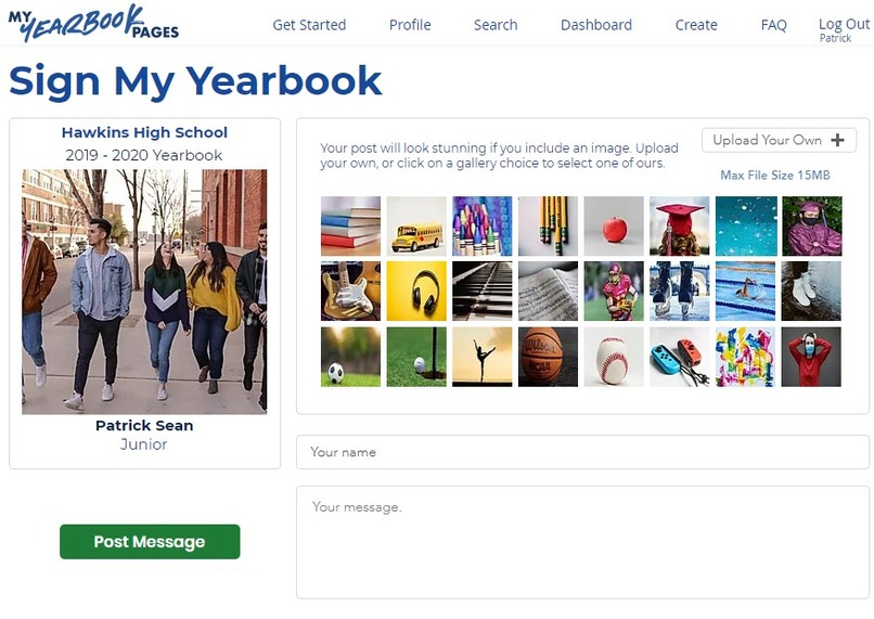 My Yearbook Pages – screenshot 2