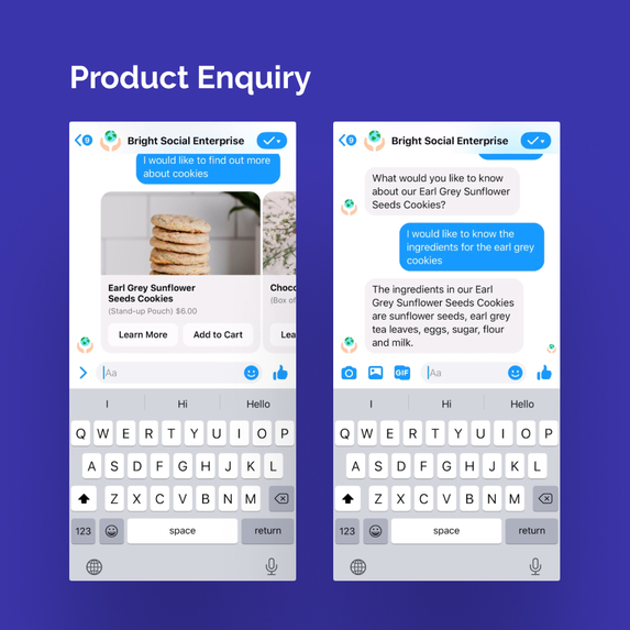 Bright: Social Enterprise Commerce Bot – screenshot 4
