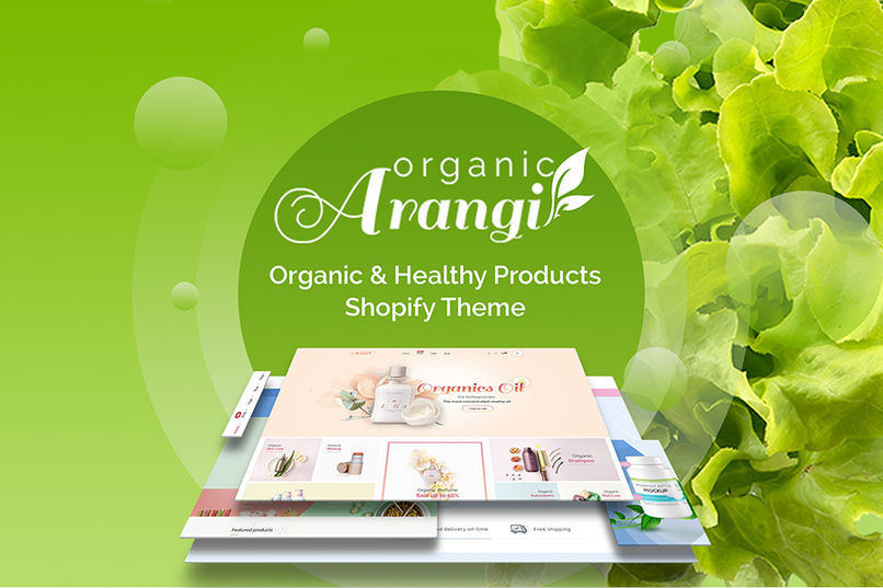 Arangi - Organic & Healthy Products Shopify Theme – screenshot 1