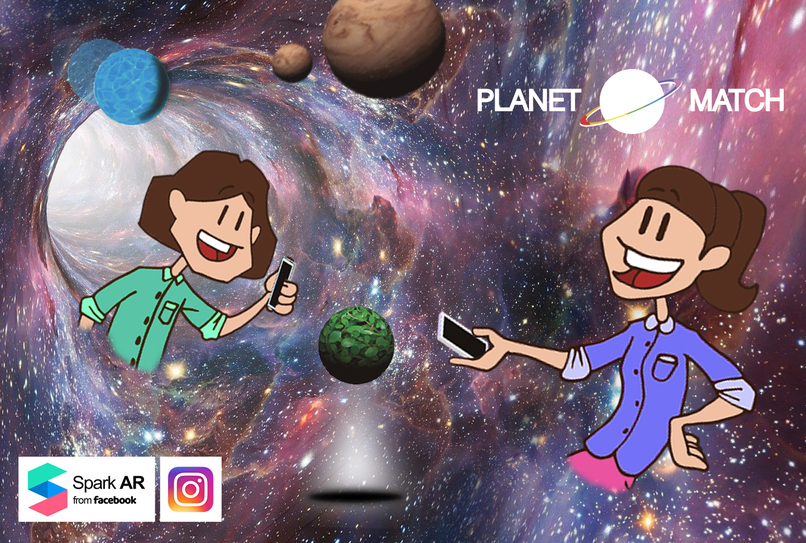 Planet Match - Multiplayer World-AR Game for Instagram calls – screenshot 1