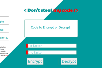 DontStealMyCode - console & web code encrypter & decrypter