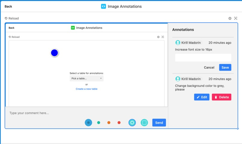 Image annotations custom block for Airtable – screenshot 3