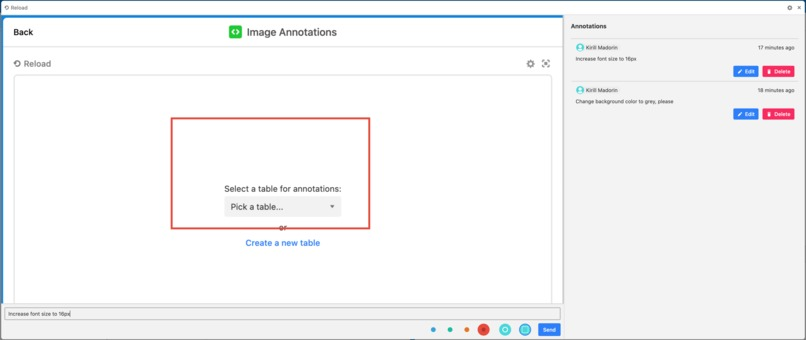 Image annotations custom block for Airtable – screenshot 4