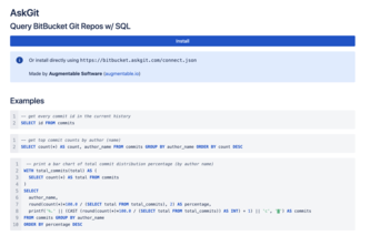 AskGit - SQL Queries on Git Repository History and Data