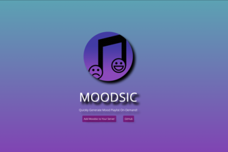 Moodsic: An Intelligent Discord Music Bot