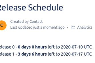 Days Left Timer for Confluence