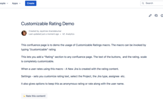 Forge Customizable Ratings