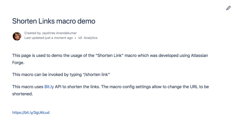 Link Shortener Macro – screenshot 1