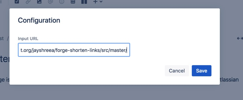 Link Shortener Macro – screenshot 2