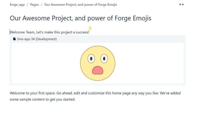 Forge Super Emojis: Emoji classifier of confluence workspace – screenshot 1
