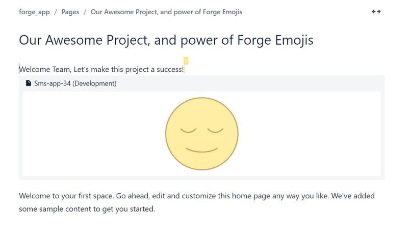 Forge Super Emojis: Emoji classifier of confluence workspace – screenshot 2