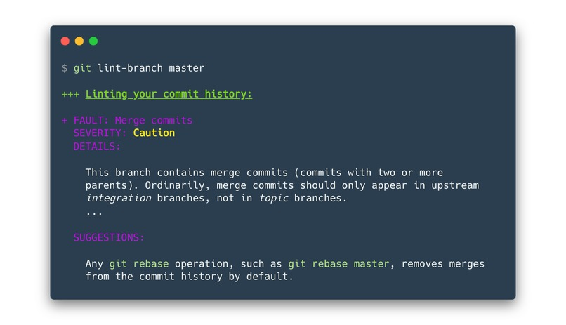 git-lint-branch – screenshot 4