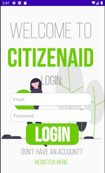 CitizenAid – screenshot 2