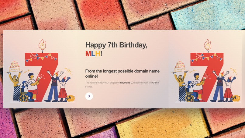 Happy Birthday MLH, from the longest domain name online! – screenshot 1
