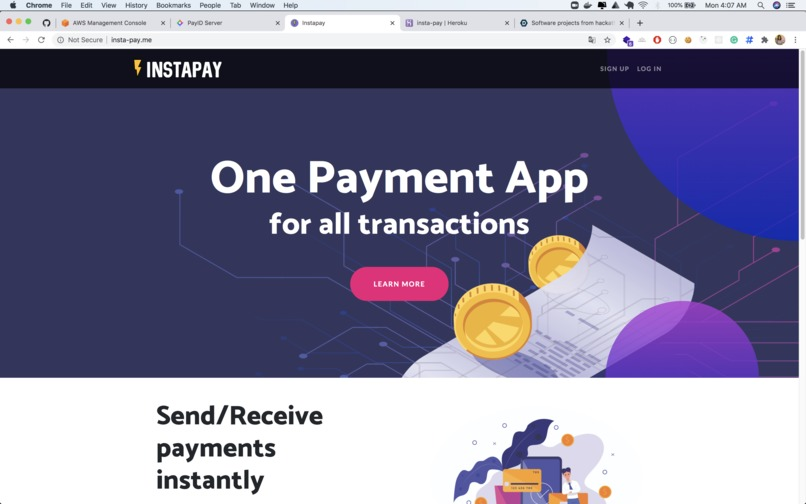 Instapay - The easiest payments app for all transactions – screenshot 2