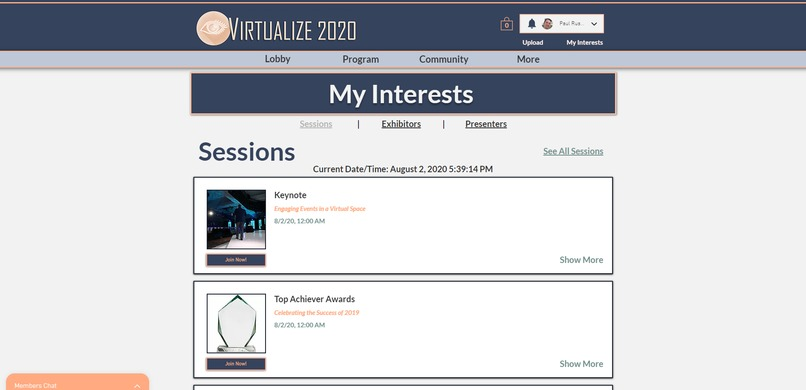 Virtualized Events – screenshot 4