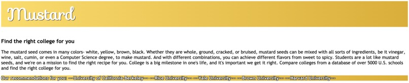 Mustard: Find the right college for you – screenshot 3