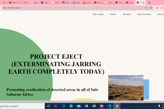 PROJECT EJECT (EXTERMINATING JARRING EARTH COMPLETELY TODAY)