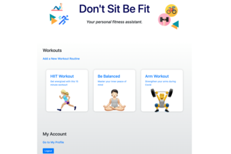 Don't Sit Be Fit