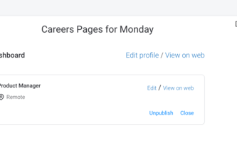 CareersPages for Monday