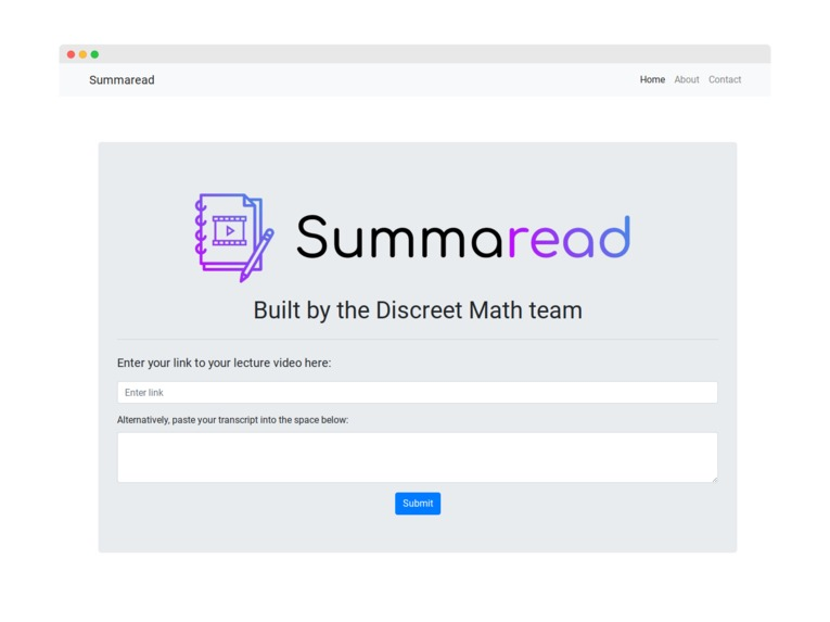 Summaread – screenshot 1