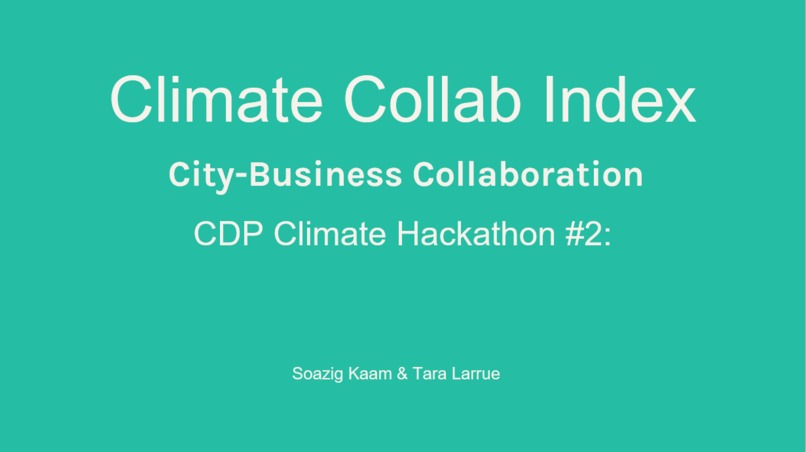 Climate Collab Index – screenshot 1