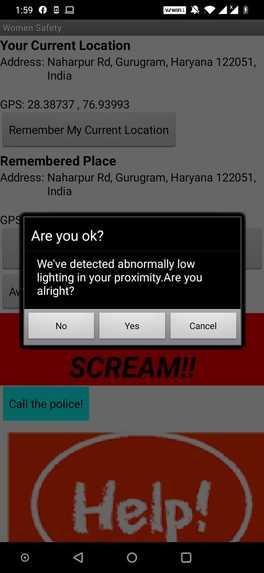Women Safety Cum Parking Location App – screenshot 1