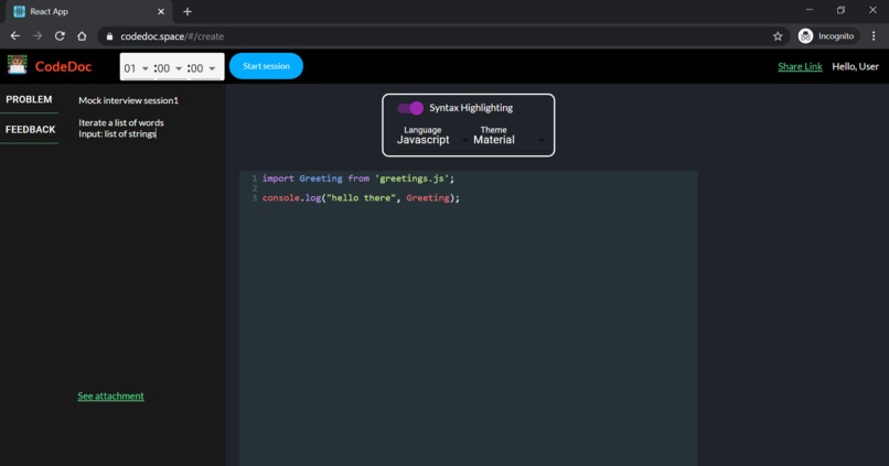 codedocs – screenshot 2