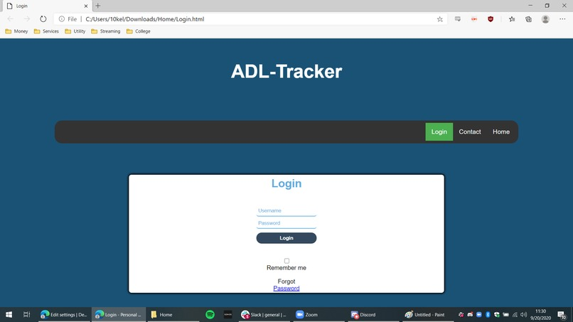 ADL Tracker – screenshot 2