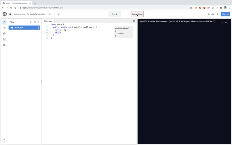 codeHelper – screenshot 1