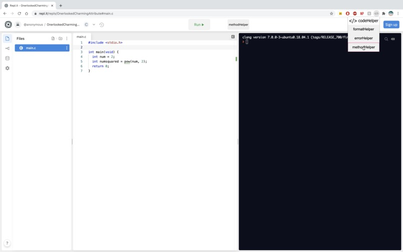 codeHelper – screenshot 4