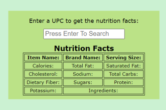 Medical - Food Nutrition Facts