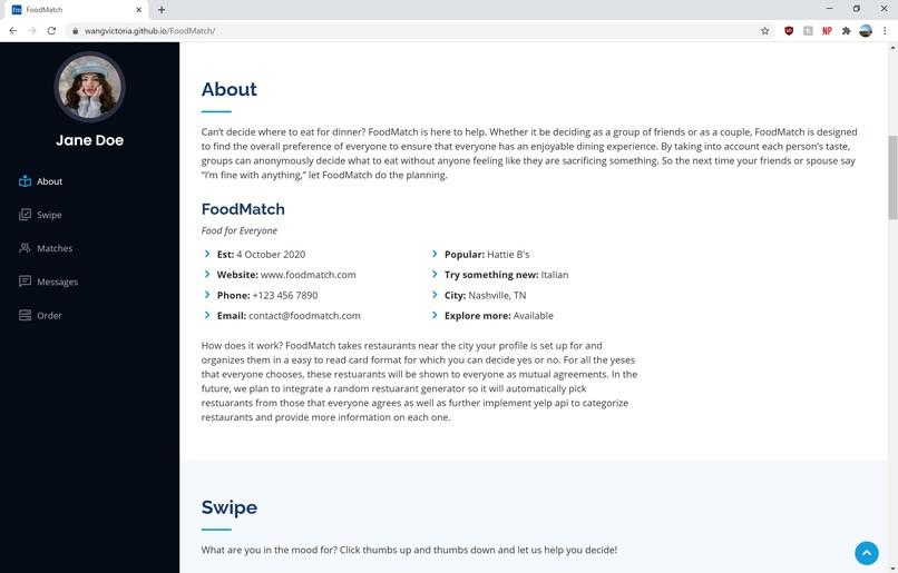 FoodMatch – screenshot 2