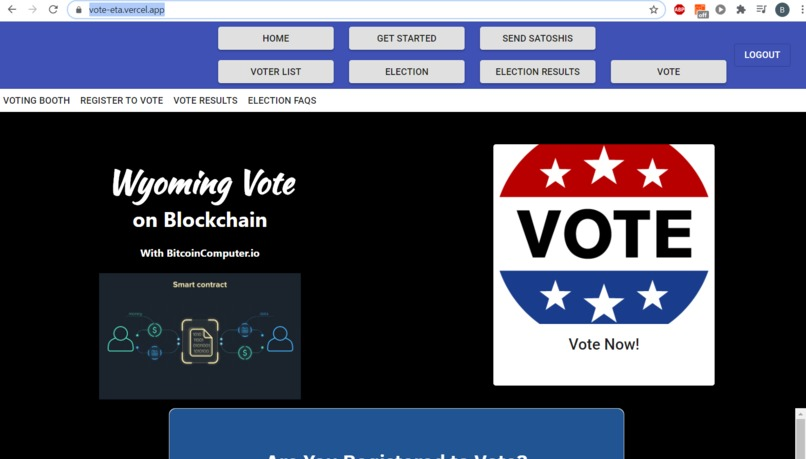 Bitcoin Voting Booth – screenshot 1