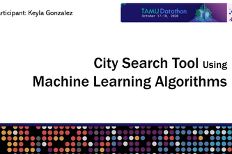 City Search Tool Using Machine Learning Algorithms