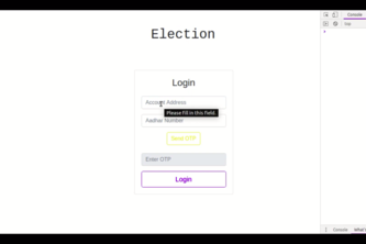 Blockchain based Vote Casting